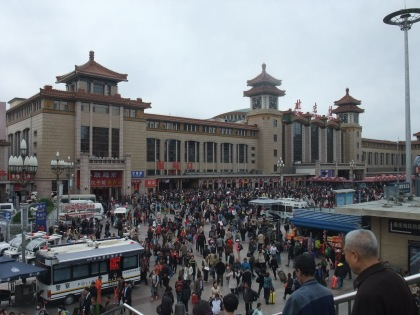 Railway station in Beijing